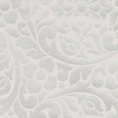 Cascada Lilac Metallic Medallion Wallpaper