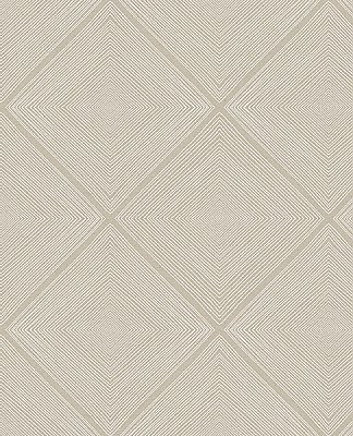 Aries Taupe Geometric Wallpaper