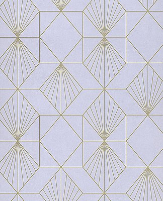 Halcyon Lilac Geometric Wallpaper