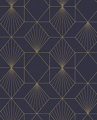 Halcyon Plum Geometric Wallpaper
