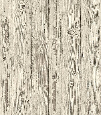 Albright Ivory Weathered Oak Panels Wallpaper