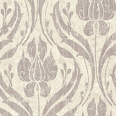 Carrara Taupe Textured Damask Wallpaper