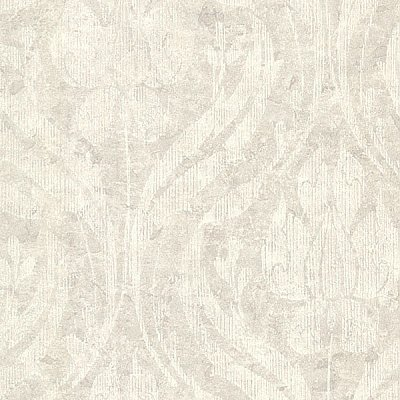Carrara Light Grey Textured Damask Wallpaper
