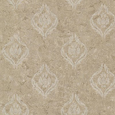 Benza Bronze Small Textured Damask Wallpaper