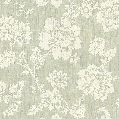 Giardina Light Green Floral Trail Wallpaper