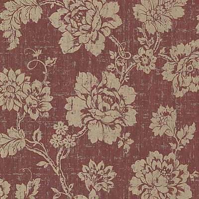 Giardina Red Floral Trail Wallpaper