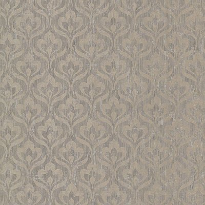 Toscana Grey Peacock Ogee Wallpaper