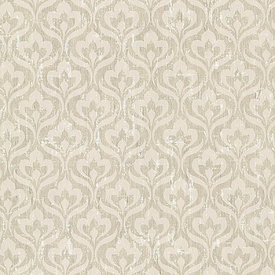 Toscana Beige Peacock Ogee Wallpaper