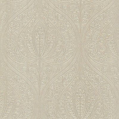 Paolina Beige Embossed Large Damask Wallpaper