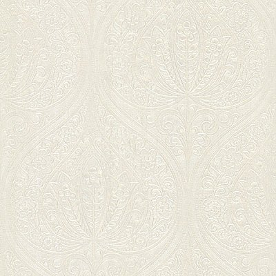 Paolina Champagne Embossed Large Damask Wallpaper