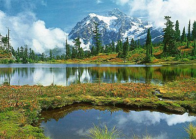 Mt Shuksan And Picture Lake Wall Mural