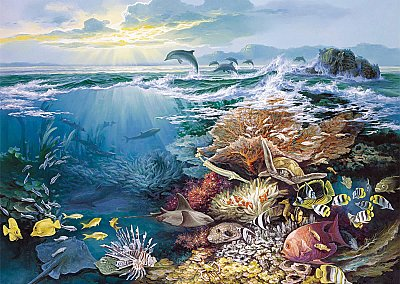 Oceanic Wonder Mural 1838 DS8038