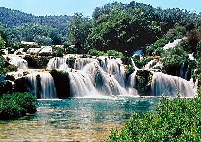 China Waterfall Wall Mural