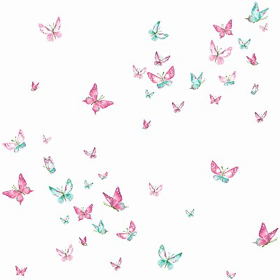Watercolor Butterflies Wallpaper