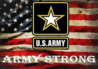 U.S. Army HUGE Peel & Stick CANVAS Poster