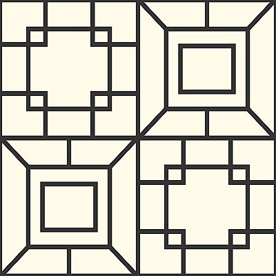 Ashford House Theorem Wallpaper - Black