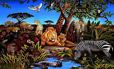 Jungle Mural Mural BZ9103M MP4962M