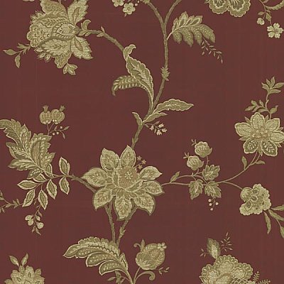 Quinn Cherry Jacobean Trail Wallpaper