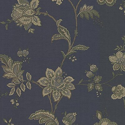 Quinn Navy Jacobean Trail Wallpaper