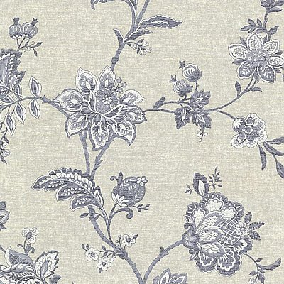 Quinn Denim Jacobean Trail Wallpaper