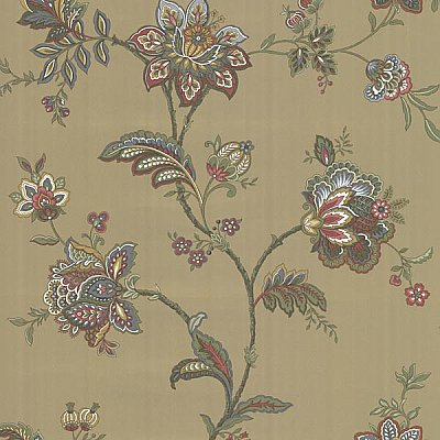 Quinn Bronze Jacobean Trail Wallpaper