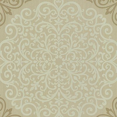 Cassidy Bronze Medallion Damask Wallpaper