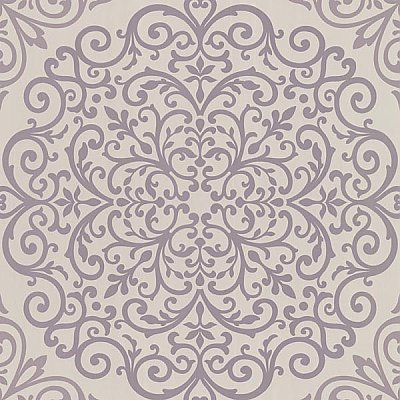 Cassidy Lavender Medallion Damask Wallpaper