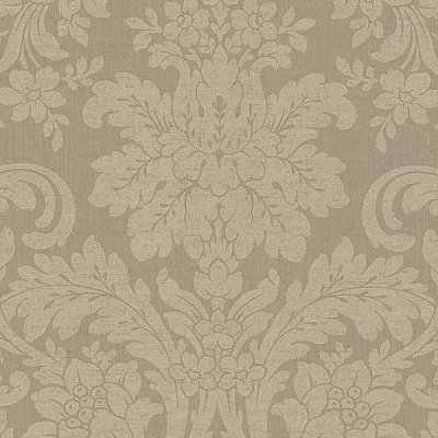 Birgitta Wheat Damask Wallpaper