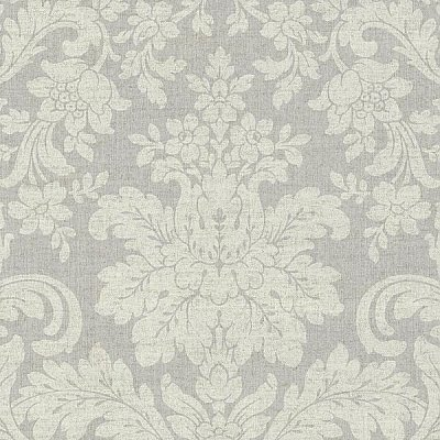 Birgitta Grey Damask Wallpaper