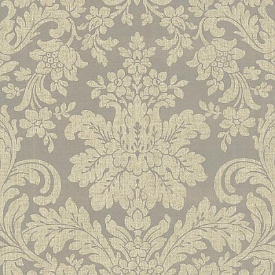 Birgitta Pewter Damask Wallpaper