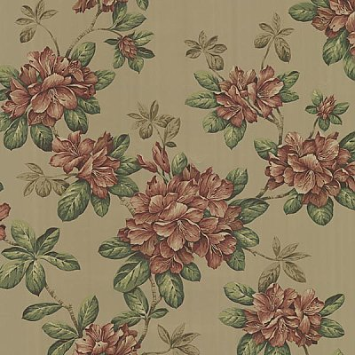 Bree Burnt Sienna Lily Trail Wallpaper
