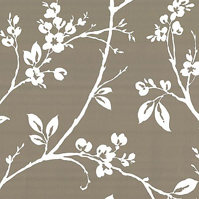 Kassidy Pewter Dogwood Trail Wallpaper