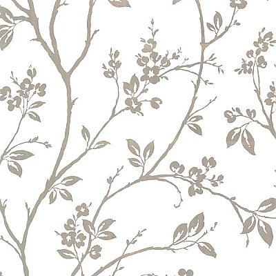 Kassidy Silver Dogwood Trail Wallpaper