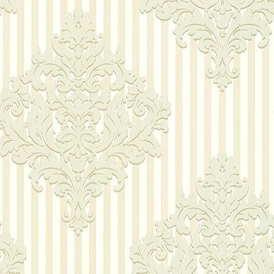 Rowan Champagne Damask Stripe Wallpaper