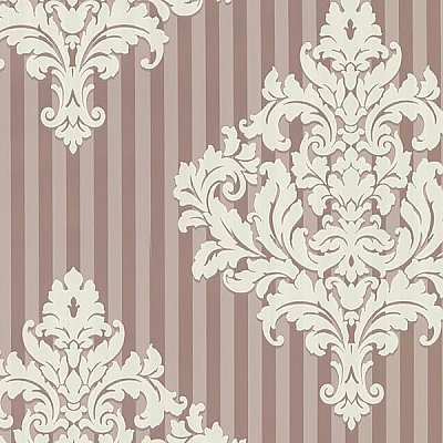 Rowan Rose Damask Stripe Wallpaper