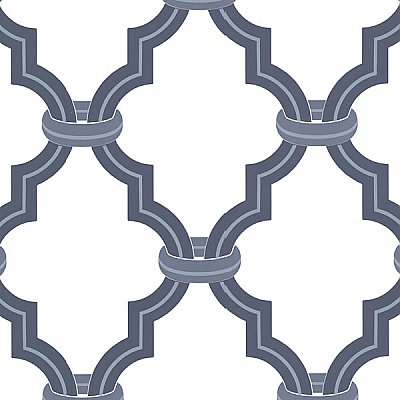 Byrne Navy Ironwork Wallpaper