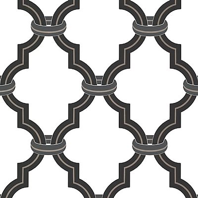 Byrne Black Ironwork Wallpaper