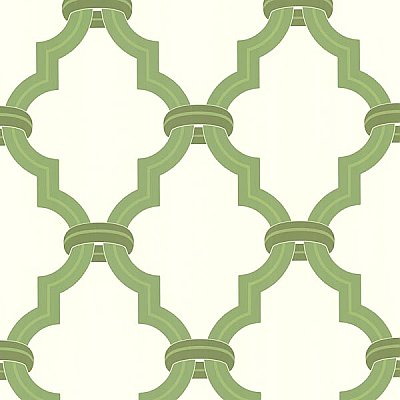 Byrne Golden Green Ironwork Wallpaper