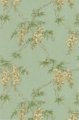 Annabelle Teal Floral Toile Wallpaper