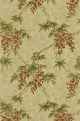 Annabelle Wheat Floral Toile Wallpaper