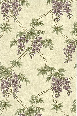 Annabelle Purple Floral Toile Wallpaper