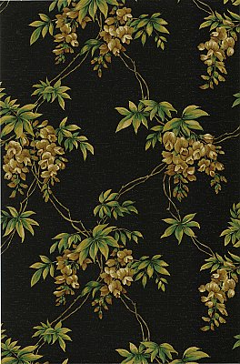 Annabelle Black Floral Toile Wallpaper