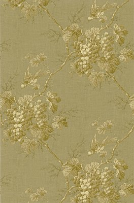 Napa Valley Gold Grape Toile Wallpaper