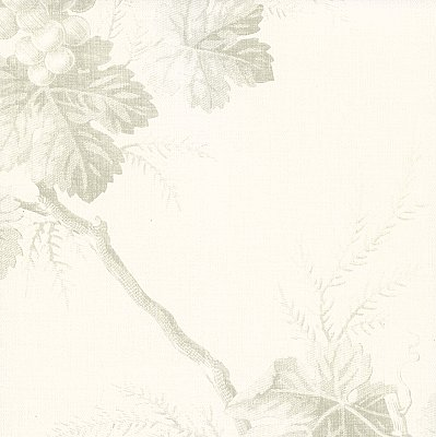 Napa Valley Ghost Grape Toile Wallpaper