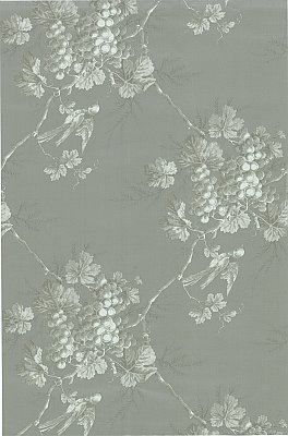 Napa Valley Silver Grape Toile Wallpaper