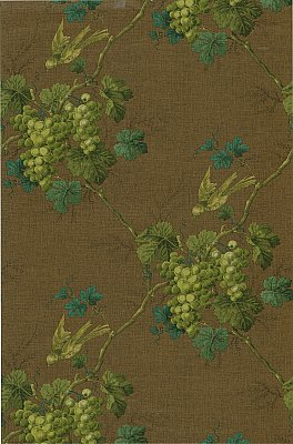 Napa Valley Brown Grape Toile Wallpaper