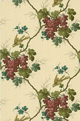Napa Valley Merlot Grape Toile Wallpaper