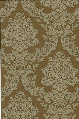 Rice Sage Meridian Damask Wallpaper