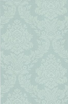 Rice Blue Meridian Damask Wallpaper