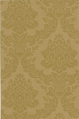 Rice Gold Meridian Damask Wallpaper